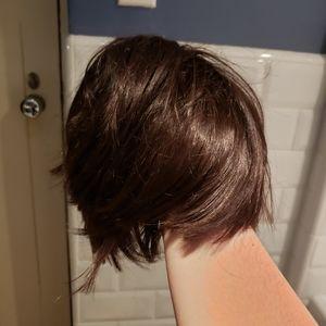 Short brown cosplay wig